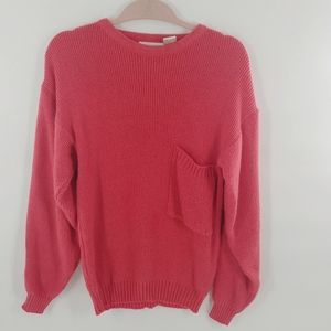 Vintage Coral Colored Chunky Sweater